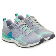 Кроссовки SKECHERS Jumptech Air-Cooled Memory foam Grey-aqua серо-бирюзовые