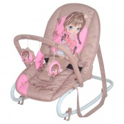 Детский шезлонг Bertoni Top Relax beige & rose princess