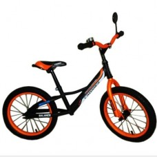 Беговел Azimut Crosser Balance Bike Air 16 графит-оранжевый