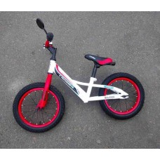 Беговел Azimut Crosser Balance Bike Air 14 бело-красный