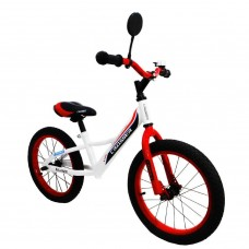 Беговел Azimut Crosser Balance Bike Air 16 бело-красный